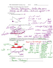 Surface Area Assignment