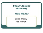 Weber -Ideal Types and Authority