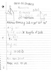 Math Classnote: Area of Shapes