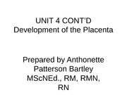 Development of the Placenta[1]