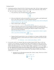 Problem Set #10 with answers