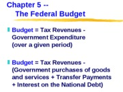 ECN 302-602 (6), The Government Budget