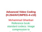 9-Advanced Video Coding-Part1