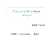 Chap II Univariate Time Series Analysis