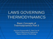 3 LAWS GOVERNING THERMODYNAMICS