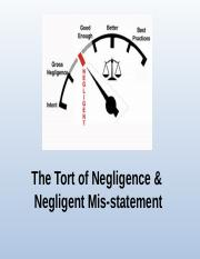 1 Tort of negligence(1) (2)