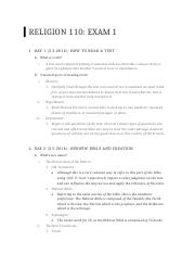 Religion 110 Exam 1 Outline.docx