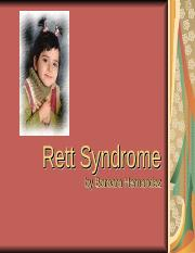 Rett Syndrome Article.ppt