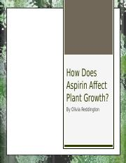 How Does Aspirin Affect Plant Growth.pptm