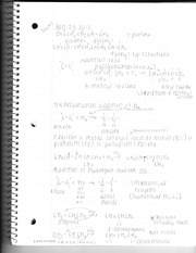 Chemistry Test Three Review Notes