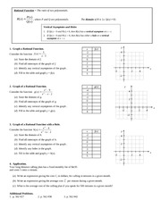 Graphing Rational Functions Homework
