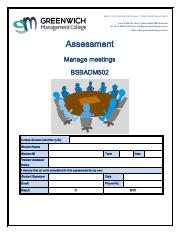 Assessment - Manage Meetings BSBADM502.pdf