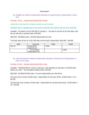 Depreciation examples chap 9