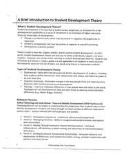 A Brief Introduction to Student Development Theory