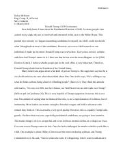 sample exemplification essay conclusion practice sample  5 pages donald trump essay