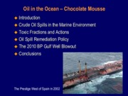 Lecture Slides, Oil in Oceans