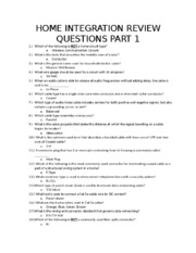 HOME INTEGRATION REVIEW QUESTIONS PART 1 (2).docx
