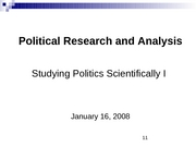 P284_Jan 16_Studying politics in a scientific way I