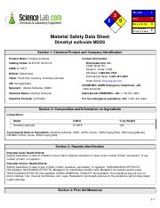 MSDS - Dimethyl sulfoxide pdf - 2 2 0 He a lt h 1 Fire 2 Re