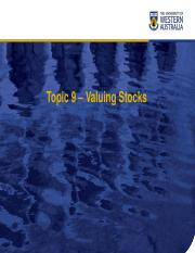 Chapter09 Valuing Stocks