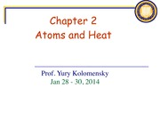 Atoms and Heat Notes