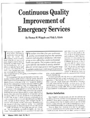 CQI of Emergency Services article