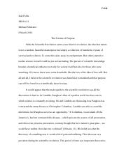 Scientific Revolution Essay