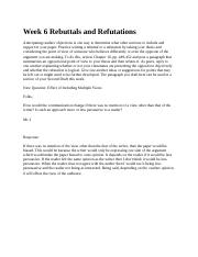 Week 6 Rebuttals and Refutations 3.7.docx