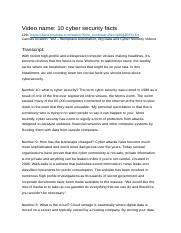 BUSM4557 %28Contemporary Management_ Issues and Challenges%29 - W2 - 10 cyber securitiy facts.docx
