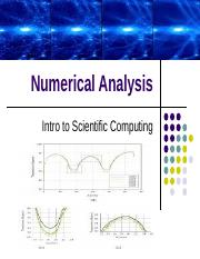 Numerical Analysis - Intro to Scientific Computing.ppt