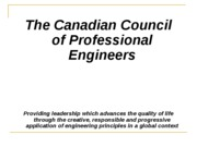 Regulations of the Engineering Profession