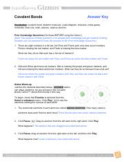 covalentbondsse_key.pdf - Covalent Bonds Answer Key ...