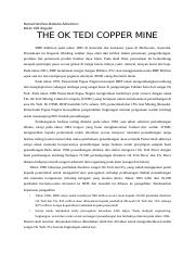 the OK tedi Copper Mine.docx