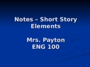Short-Story-Notes