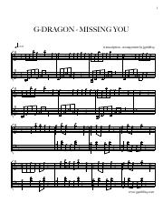 G-DRAGON - MISSING YOU