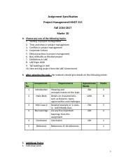 Assignment Specification PM Fall 2016-17