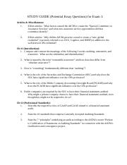 Potential Essay Questions on Exam 1 (Fall 2016).doc