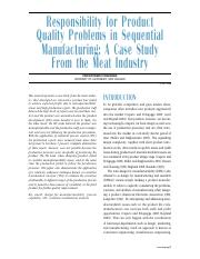 case - Product Quality - Meat Industry
