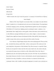 Script Analysis Paper of Trifles by Susan Glaspell.docx