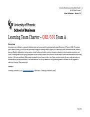 QRB501 learning team A Charter wk2.docx