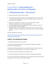 Week 5 Practical n Tutorial_Media Relations III_ Backgrounders_FactSheets_BiographyV2