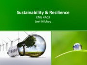 4A03 Lecture 3 - Sustainability & Resilience
