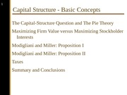 Capital Structure - Basic Concepts - PowerPoint Slides.ppt