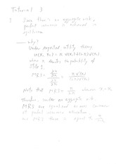 Tutorial Question 3 (Answers)