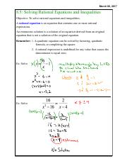 E. 8.5 Solving Rational Equations and Inequalities.pdf