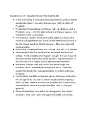 Am. Gov.- Chapt. 13, 14 Study Guide