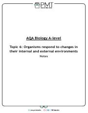 Summary Notes - Topic 6 AQA Biology A-Level.pdf