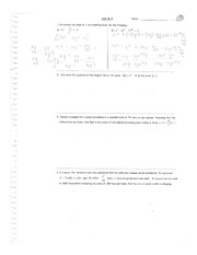 Calculus Quiz on Chapter 8 and 9