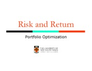 Week 2_Risk and Return