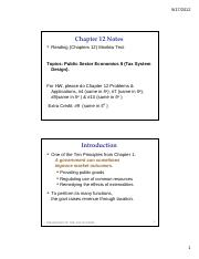 Ch. 12 Notes